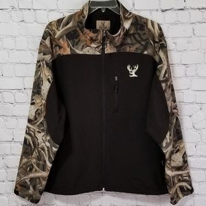 Buck Wear Camouflage Full Zip Fleece Lined Jacket